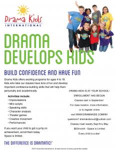 Drama Kids Elementary Course Flyer