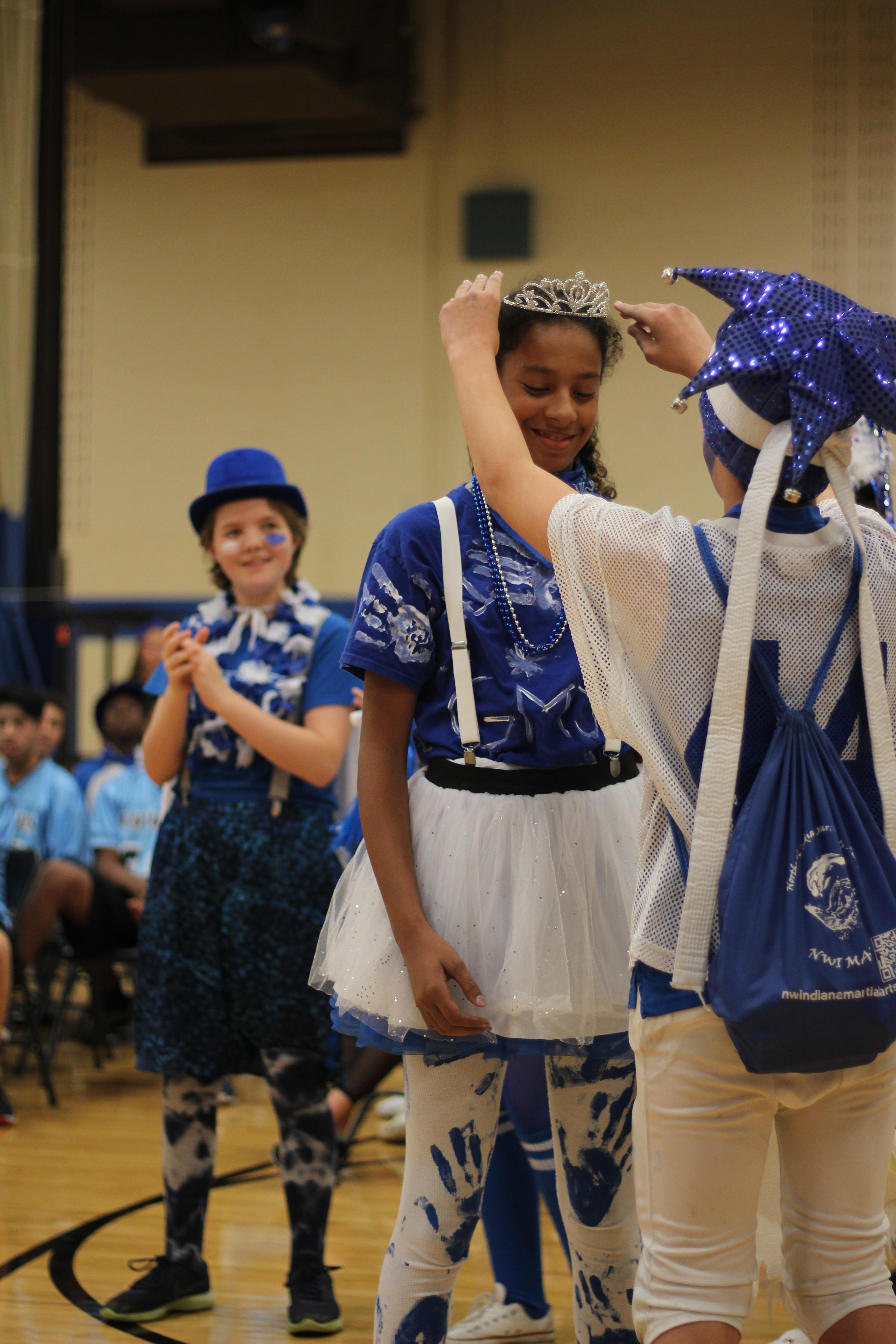Student is crowned as winner