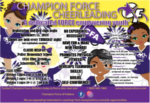 Champion Force Athletics Flyer