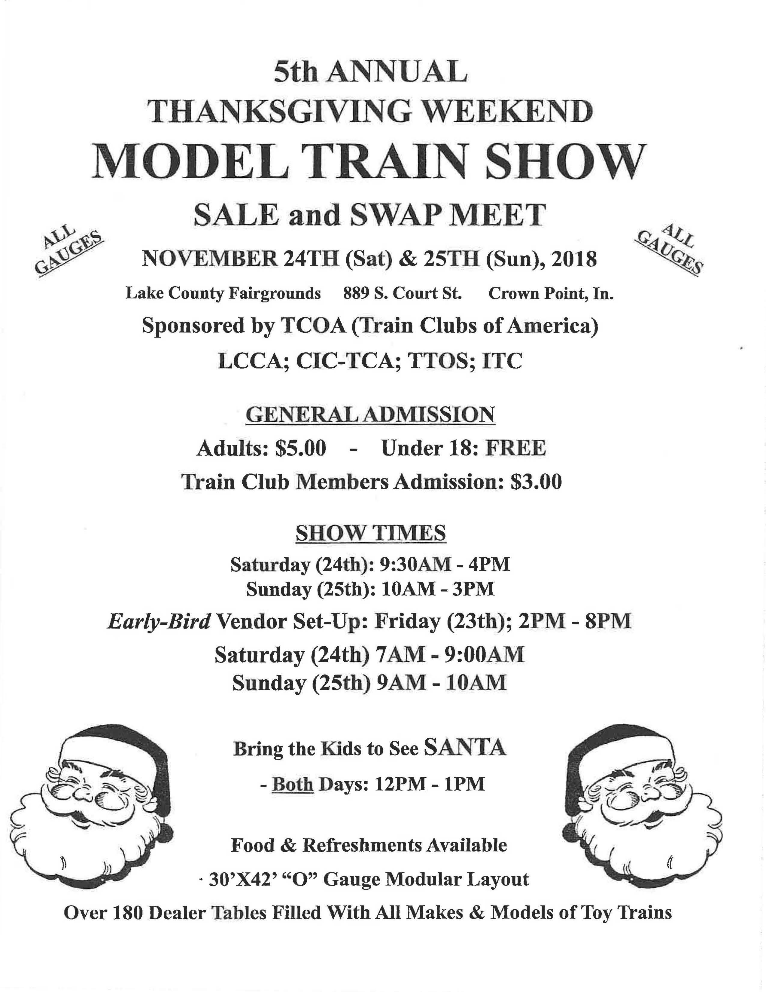 Model Train Show Flyer