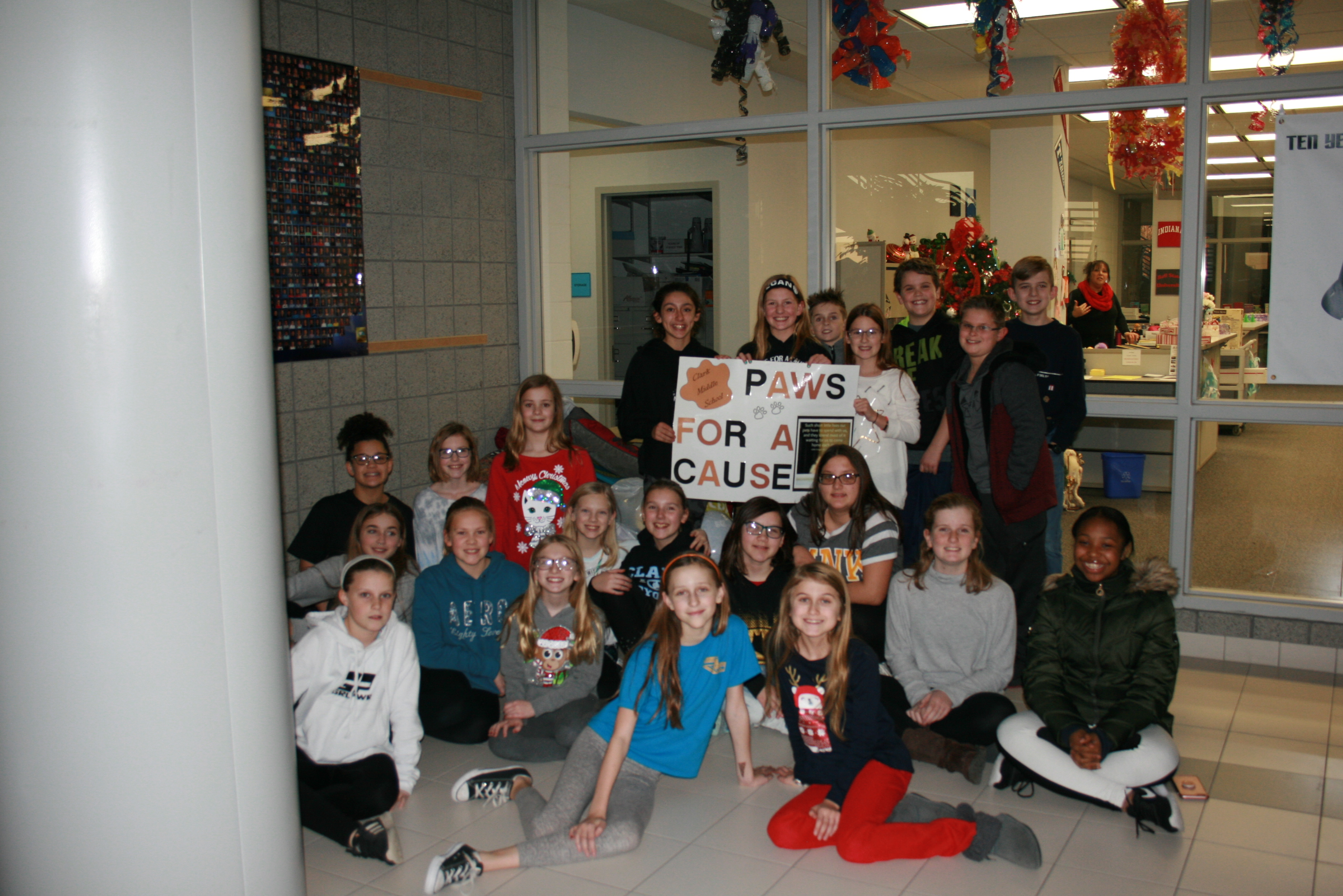 Paws for a Cause club collects items for animal control.