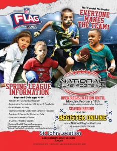 National Flag Football Spring Flyer