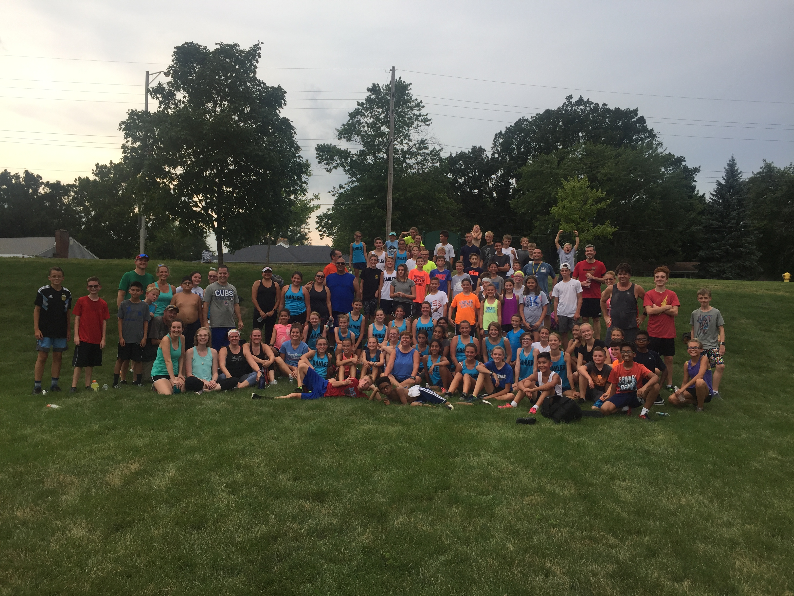 The first annual Parents and Teacher versus Kahler Cross Country Team Invitational.