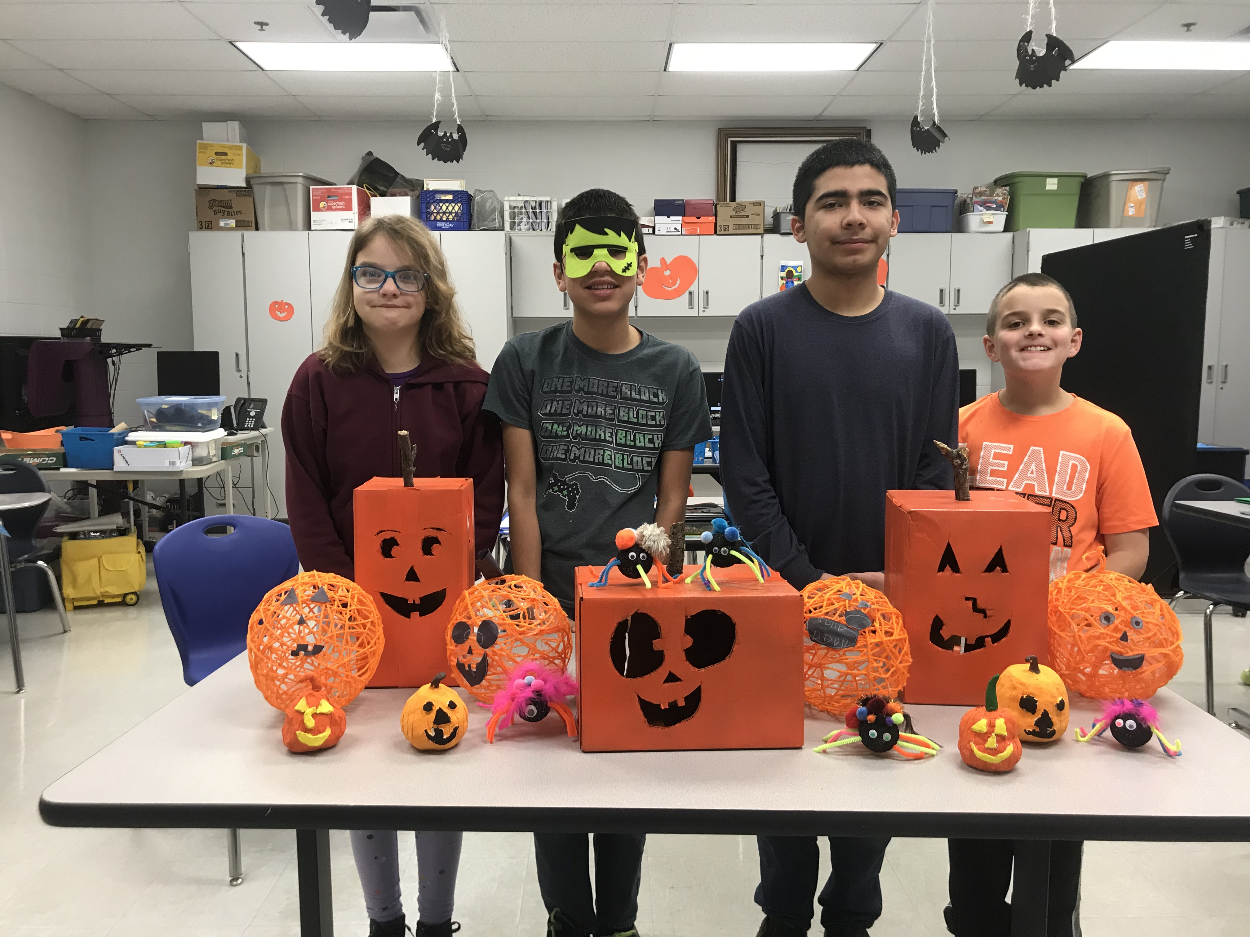 Students from Ms. Chandler's class created some awesome Halloween art work.
