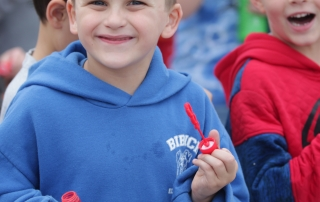 Kid smiling during the Walk-a-thon.