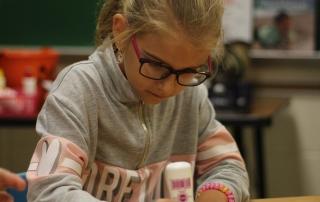 Student plays bingo