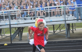 Students have fun at the pep rally.