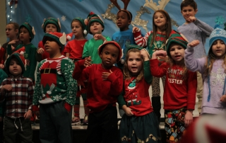 Students sing in choir