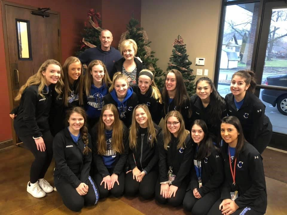 The Centralettes can usually be found over the Christmas Break rehearsing for the next competition but on this day they instead volunteered at Beacon Light Church working the food pantry and bringing in clothing donations. Thank you Pastor John Hoffmaster and wife Pam (Kolling Elementary teacher) for this heartwarming opportunity.