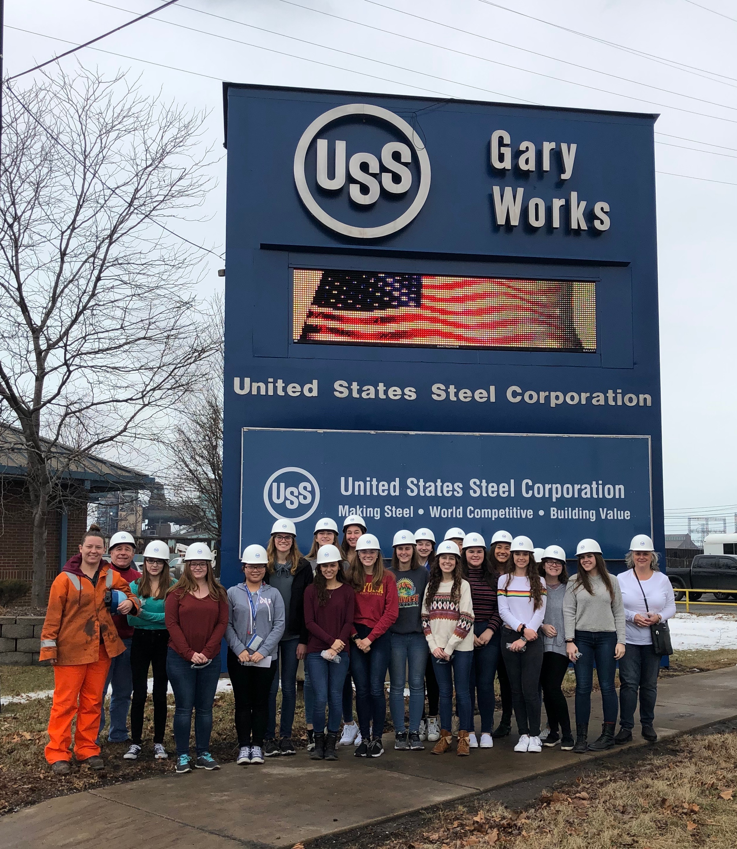 The Lake Central High School Women In Science and Engineering took their annual field trip to US Steel - Gary Works