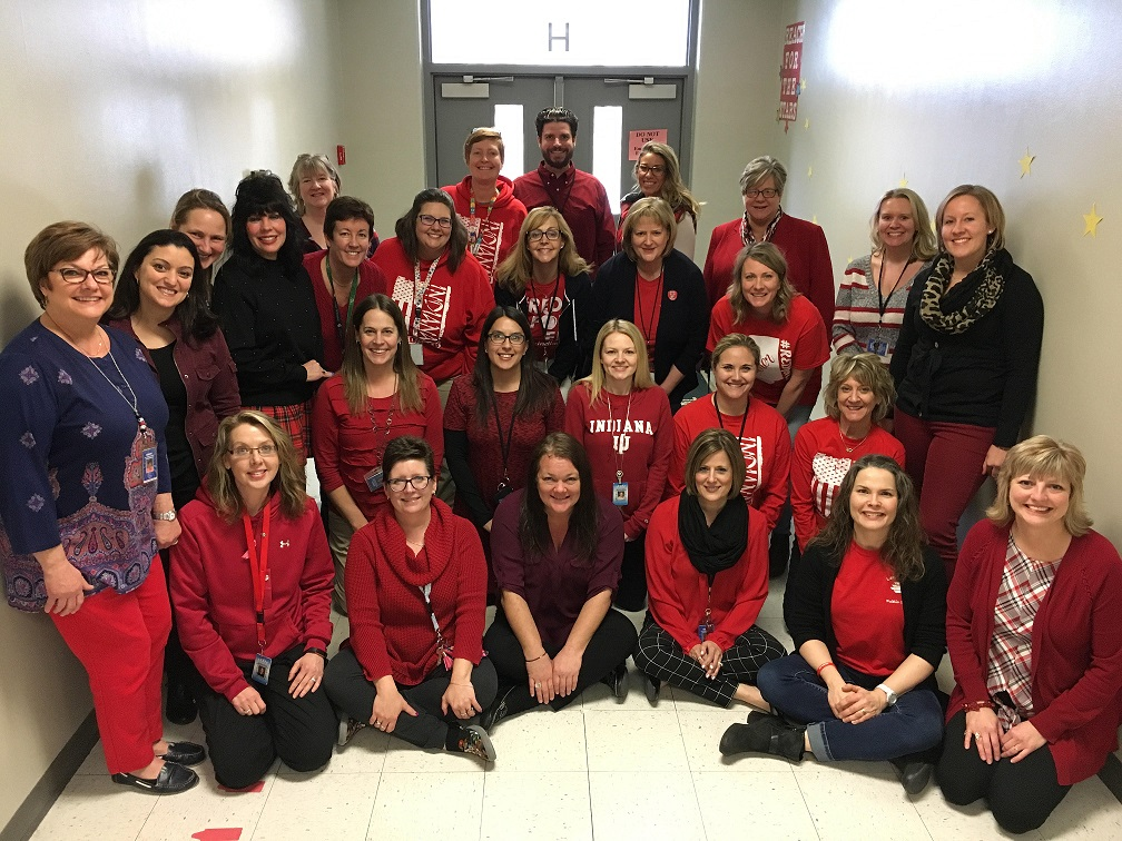 "Bibich staff members wear ""Red for Ed"" to share their support for public education."