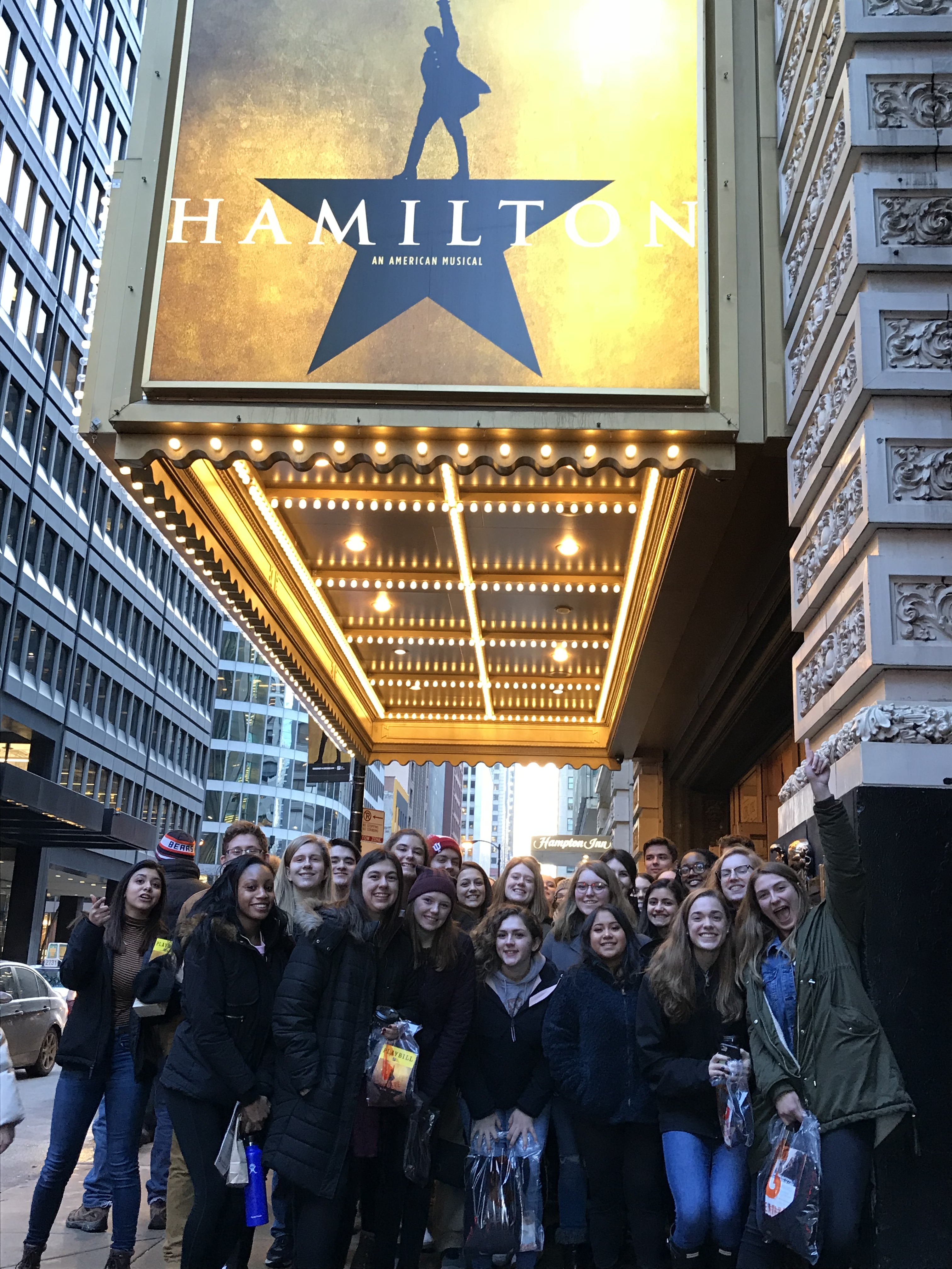 "106 Lake Central High School government and history students were ""in the room where it happened"" when they saw Hamilton this February."