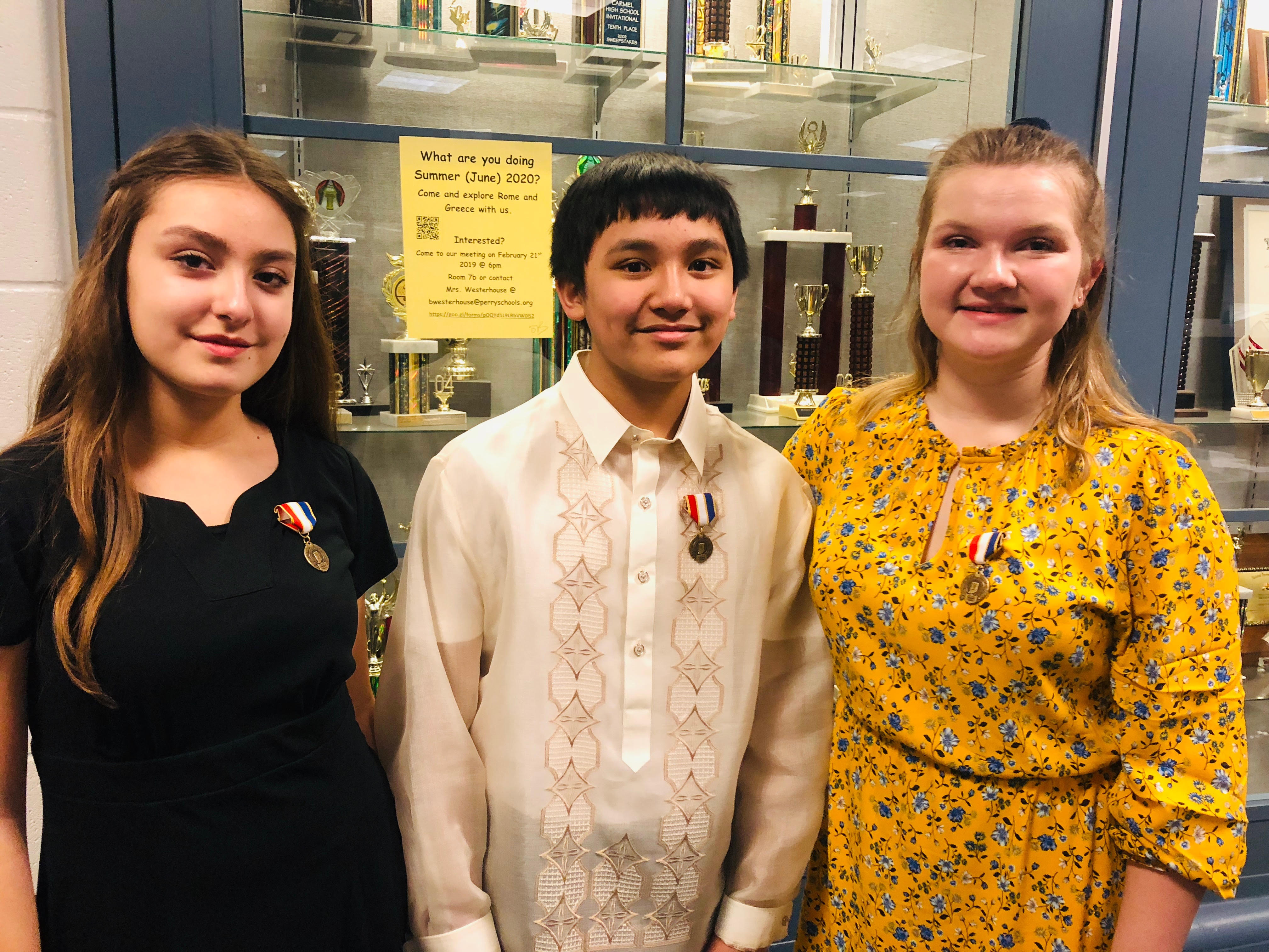 Congrats to Ellie Planert, Isabel Contreras, and Ethan Radaza at the ISSMA State Solo and Ensemble Vocal Competition on Saturday, February 16th! All three Kahler Middle School students earned Gold with Distinction!
