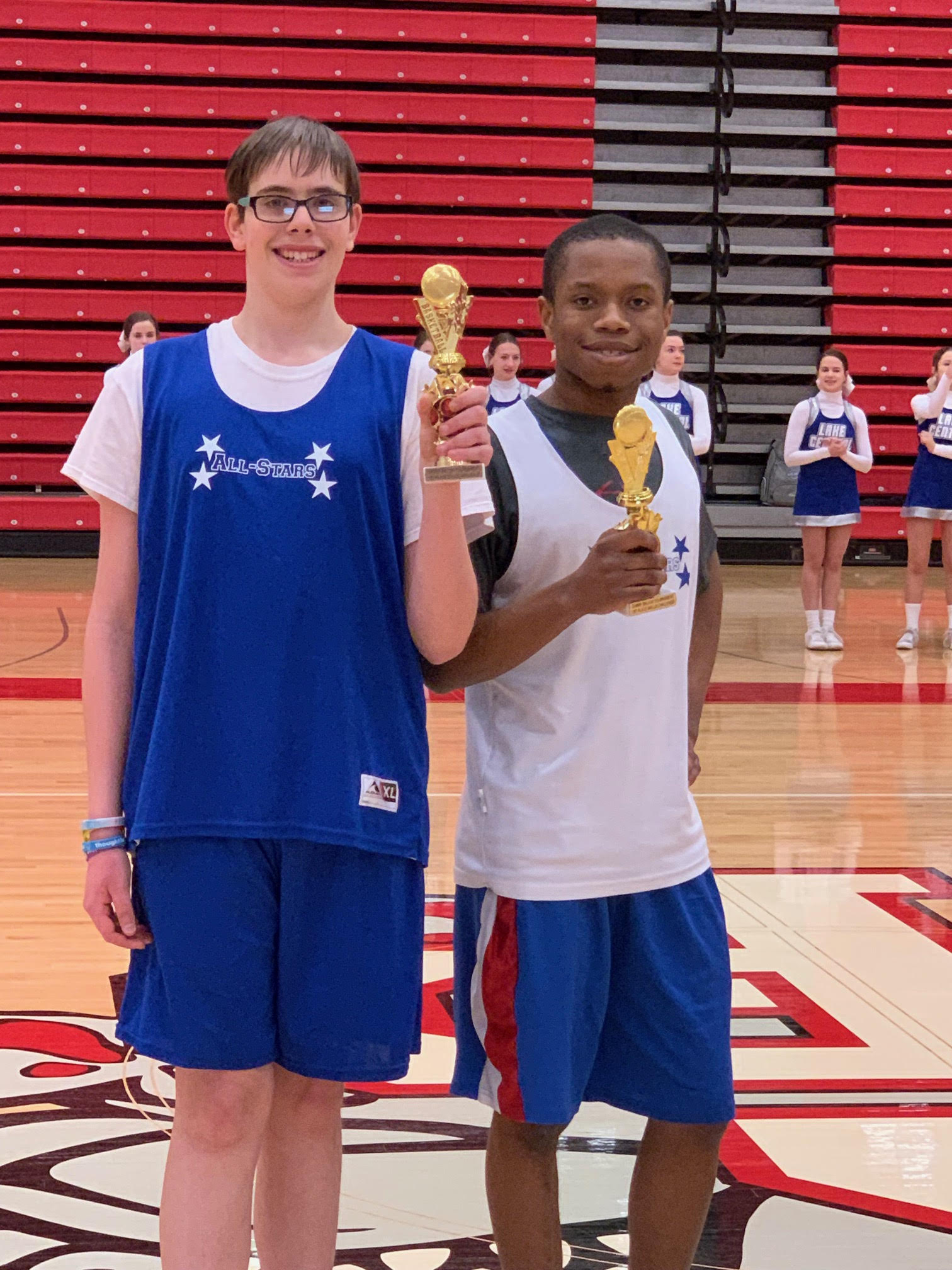 The Lake Central All-Stars wrapped up their basketball season this week. Austin Huber and Lamar Murray won the basketball skills contest at the Crown Point tournament.
