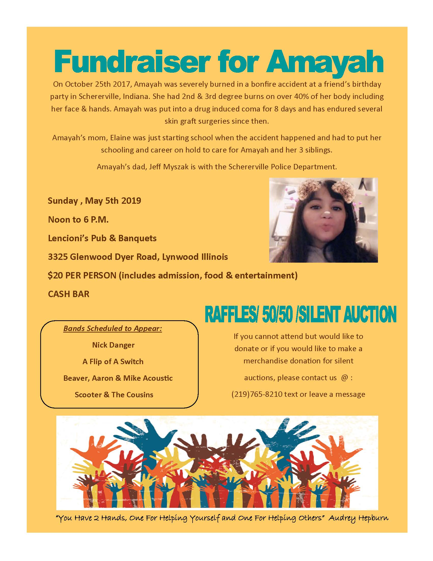 Fundraiser for Amayah Flyer