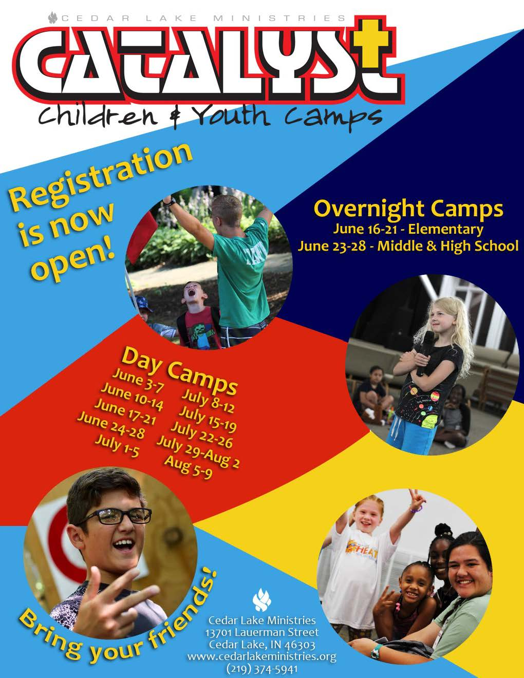 Catalyst Summer Camps Flyer