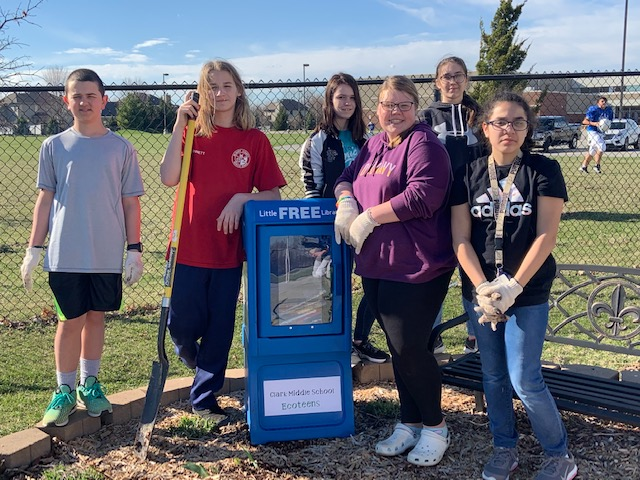 Clark Ecoteens have created 4 little free libraries that will house books of all age levels for the kids in our community!