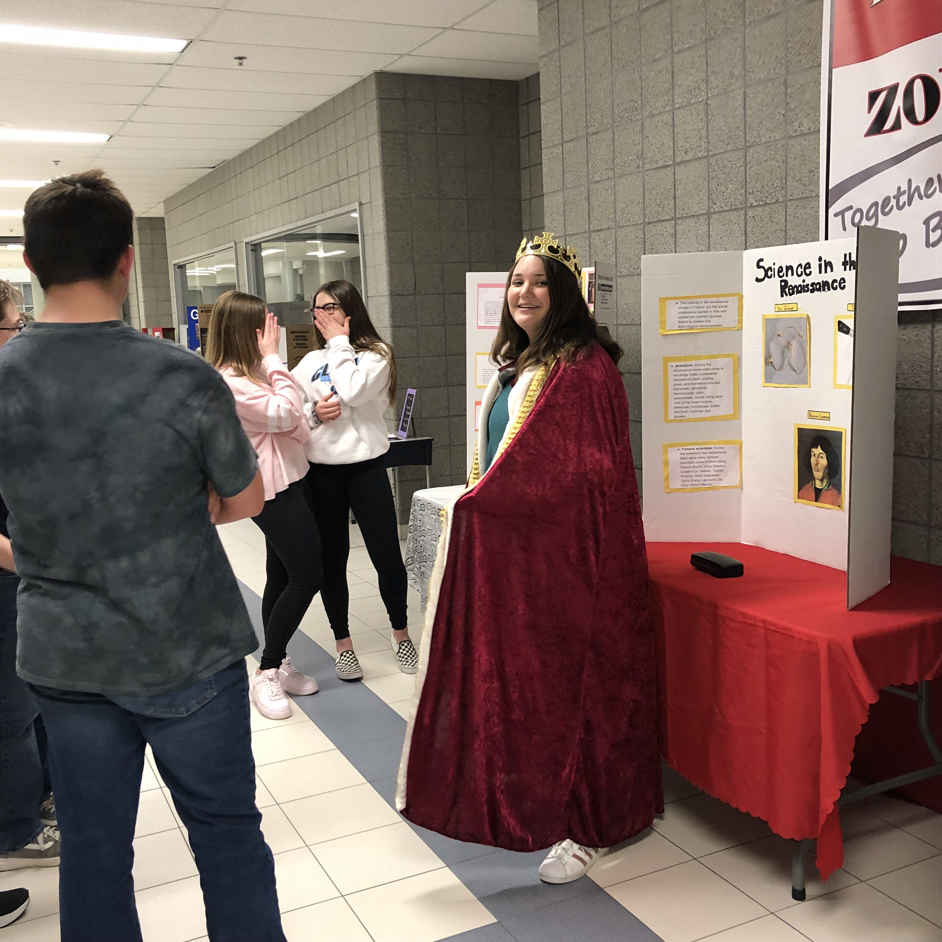 On Thursday, April 18, advanced students in seventh and eighth grade at Clark celebrated Shakespeare with our third annual party in his honor. One of the many activities included seventh grade advanced students teaching the fifth and sixth grade advanced students about life during the Elizabethan Era.