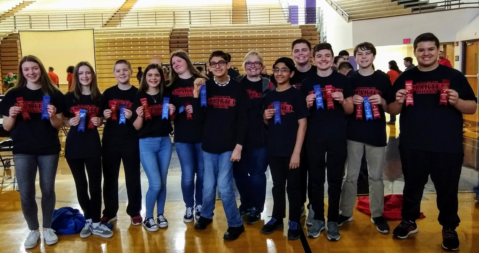 Grimmer's Academic Super Bowl team did an amazing job at the regional competition placing 2nd in science and interdisciplinary and 1st in English, math, and social studies in our division. The English team placed 6th in the state, and the social studies team placed 4th in the state! Fantastic job!!