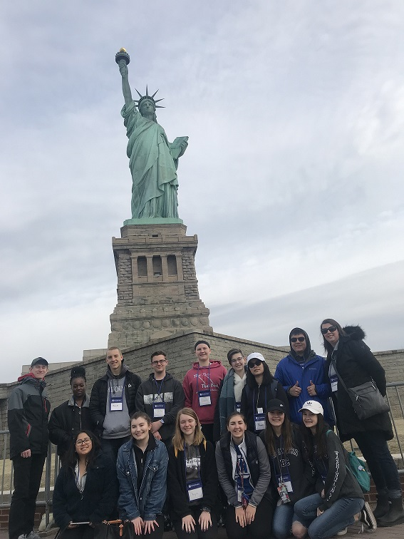 Mrs. Kuhlenschmidt took a group of students from Lake Central High School to Washington D.C. and New York over Spring Break.