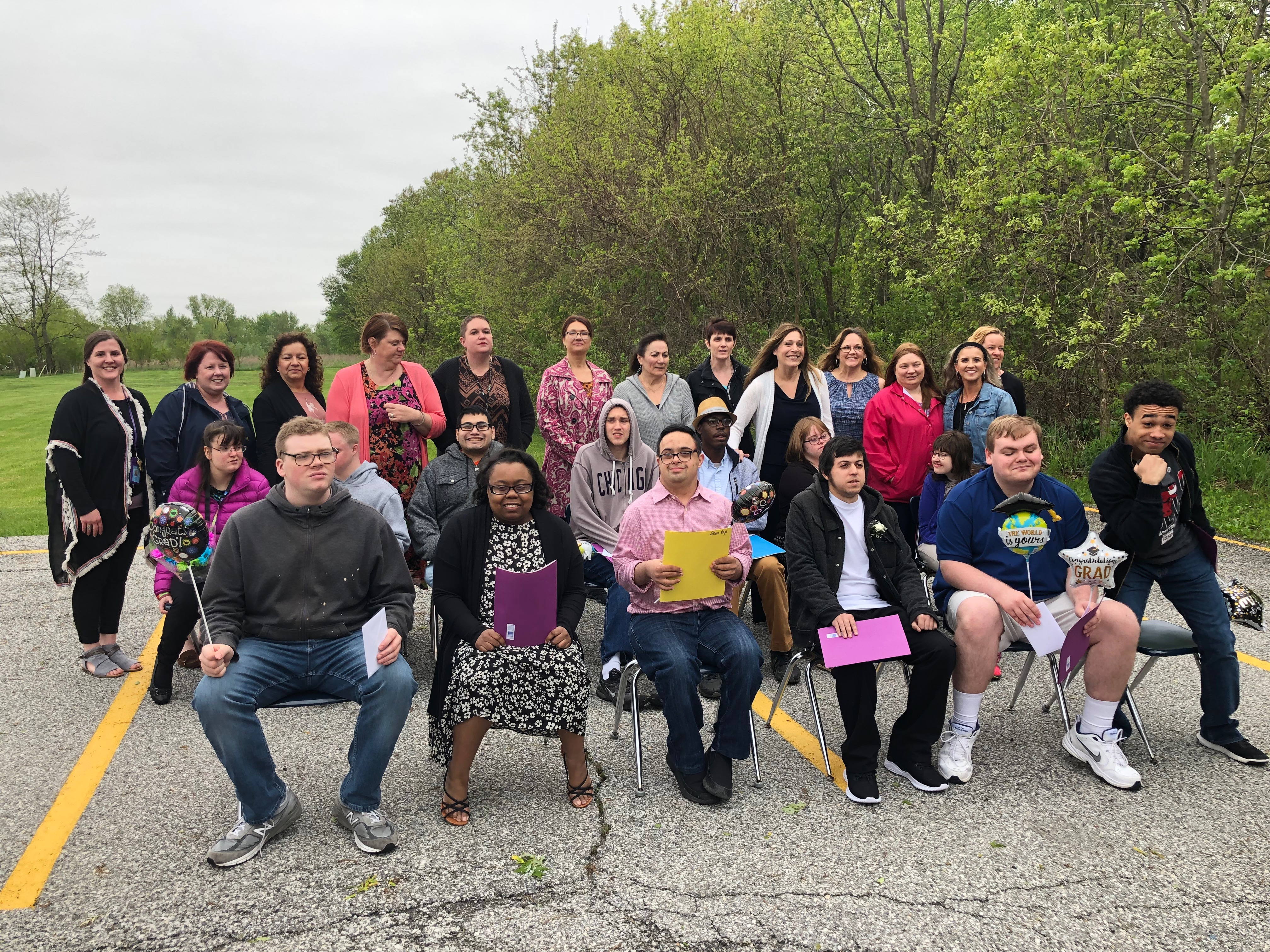 Students and staff at TAP celebrate their final transition to adulthood on May 17, 2019.
