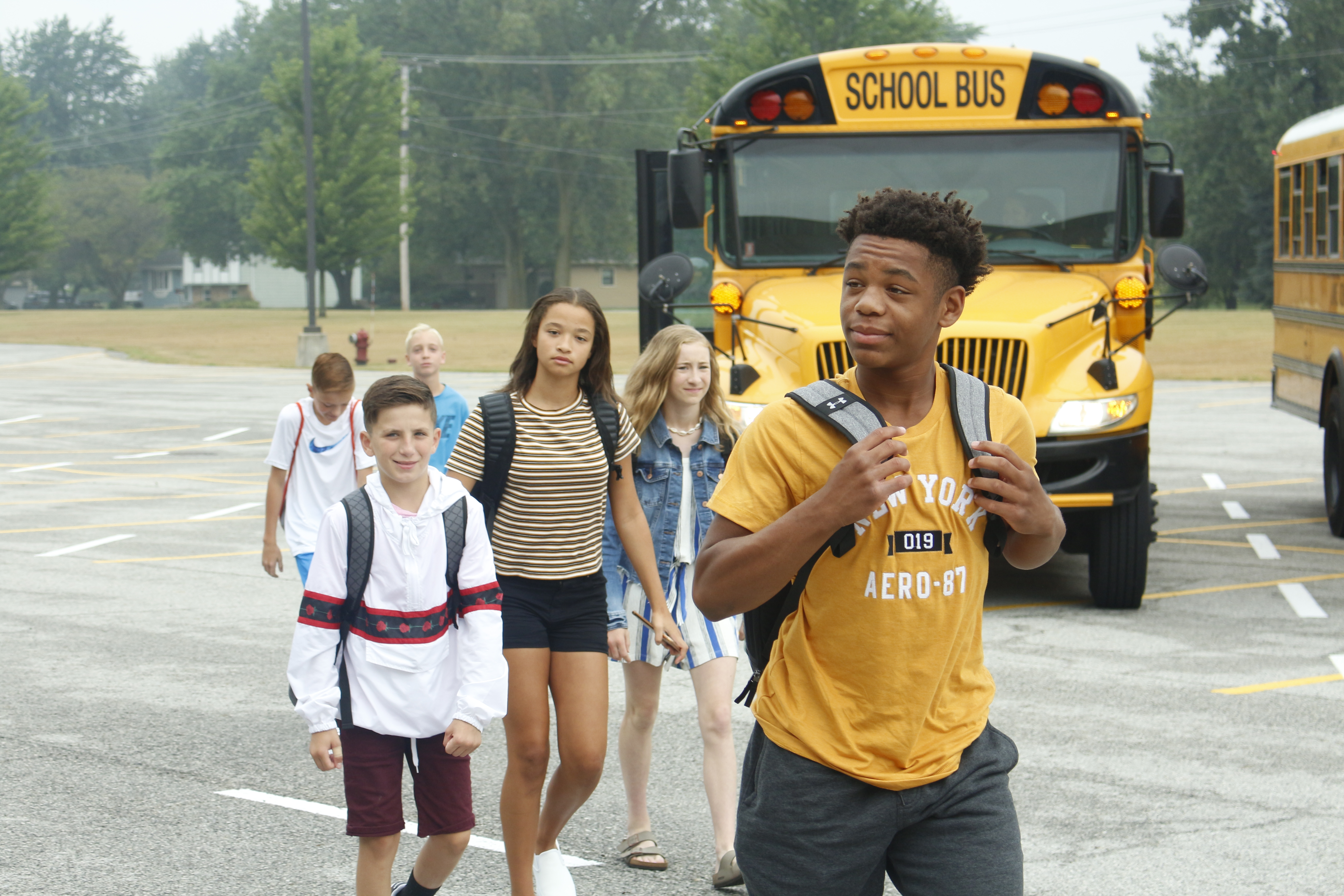 First Day of School Excitement at Clark Middle School.
