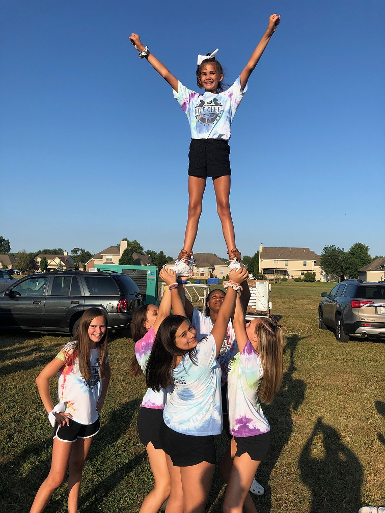 Dyer school staff members and Kahler cheerleaders enjoyed the National Night Out Against Crime at Central Park in Dyer on Tuesday, August 6th.