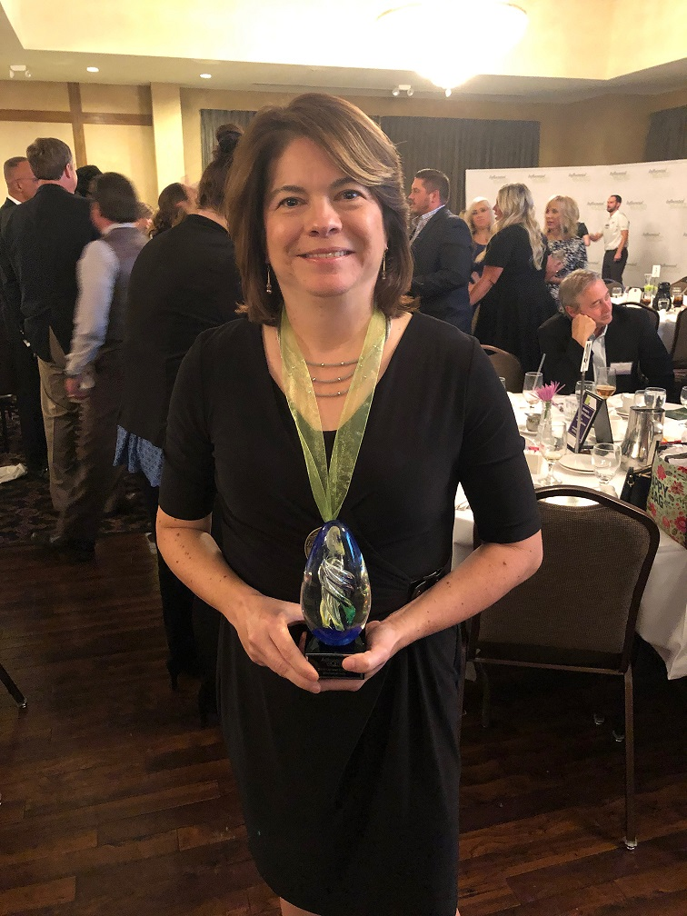 """Congratulations to Mrs. Leta Sena-Lopez, Kahler Band Director! She was awarded the """"2019 Up & Coming Most Influential Woman of Northwest Indiana"""" award in the Art category!"""