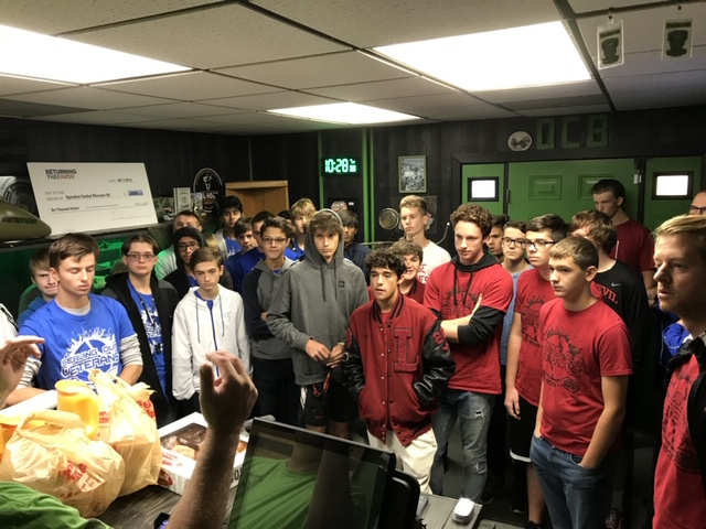 The LAKE CENTRAL Boy's tennis team met with the Lowell tennis team to travel to Operation Combat Bike Saver on Sunday, October 20th to give over $2,500 in donations to help Veterans.