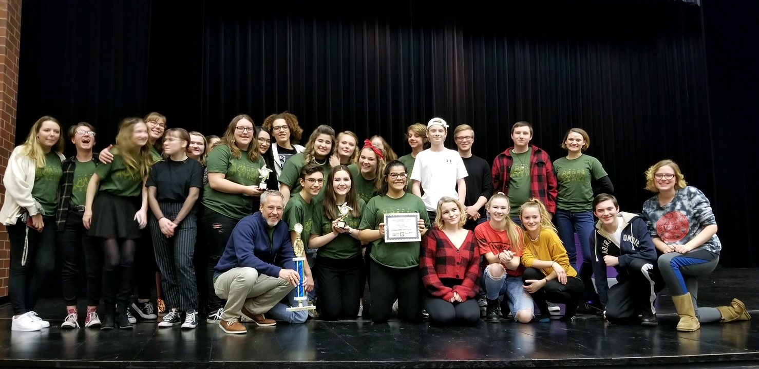 Lake Central's Theatre Company's ITS Troupe 2536 competed this weekend at their regional competition. They won the regional and are heading to state to compete January 24-26.