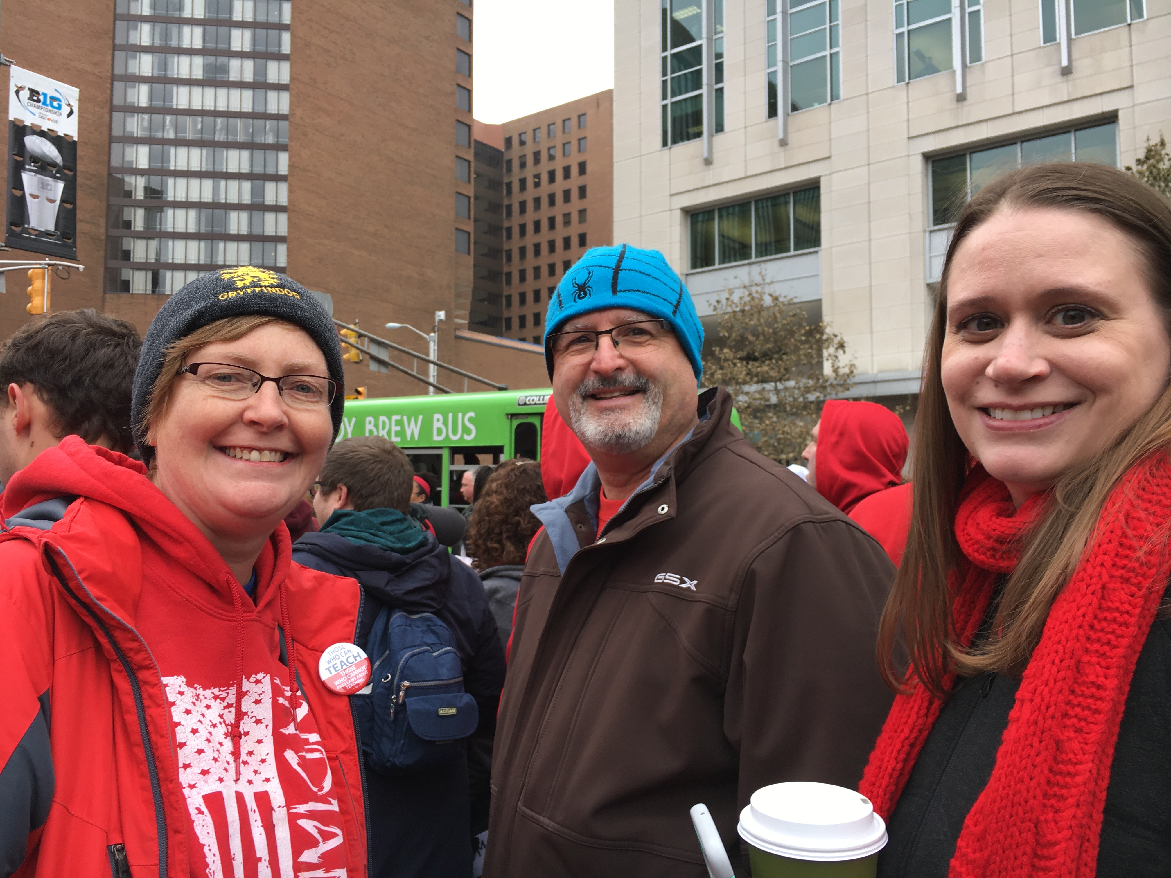 Dr. Veracco and LC teachers gather in Indianapolis with other teachers across the state marching for Red 4 Ed.