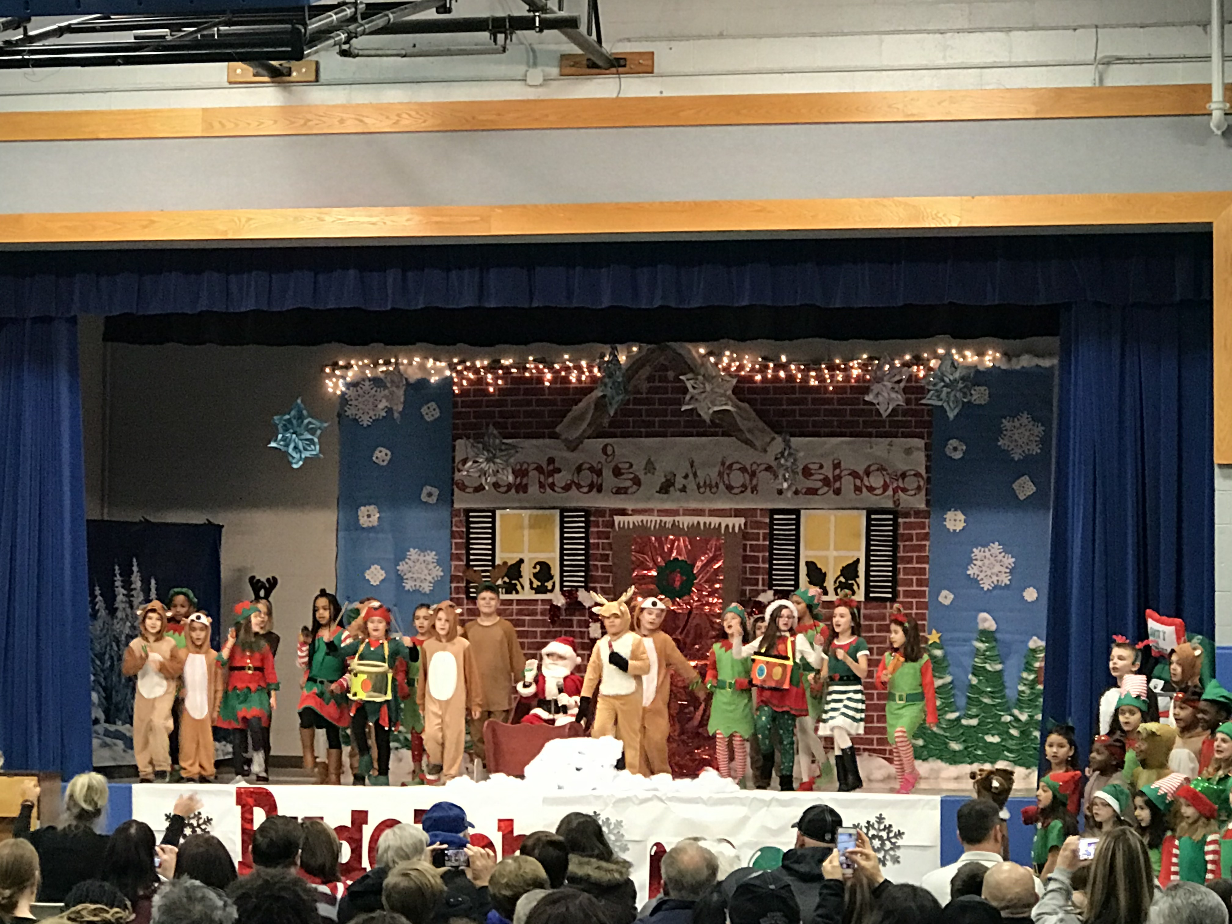 Homan welcomes in the holidays with a holiday performance by the second grade students. Rudolph turn off the Nose