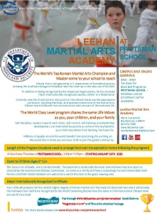 Martial Arts Academy Flyer