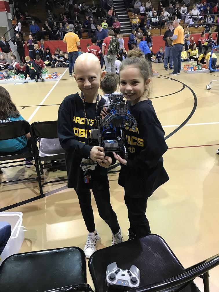 Girl Power! Protsman 3rd graders Jenna Demantes and Keri Collard shine at their Vex IQ Robotics Tournament at Portage this weekend.