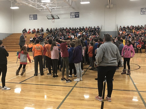 Kahler kicked off Disabilities Awareness Month and the Best Buddies program coming in the fall! Thanks to our student and adult speakers who shared a powerful message on inclusion, kindness, and friendship! A special thanks to comedian and entertainer, Craig Tornquist, for serving as our master of ceremonies.