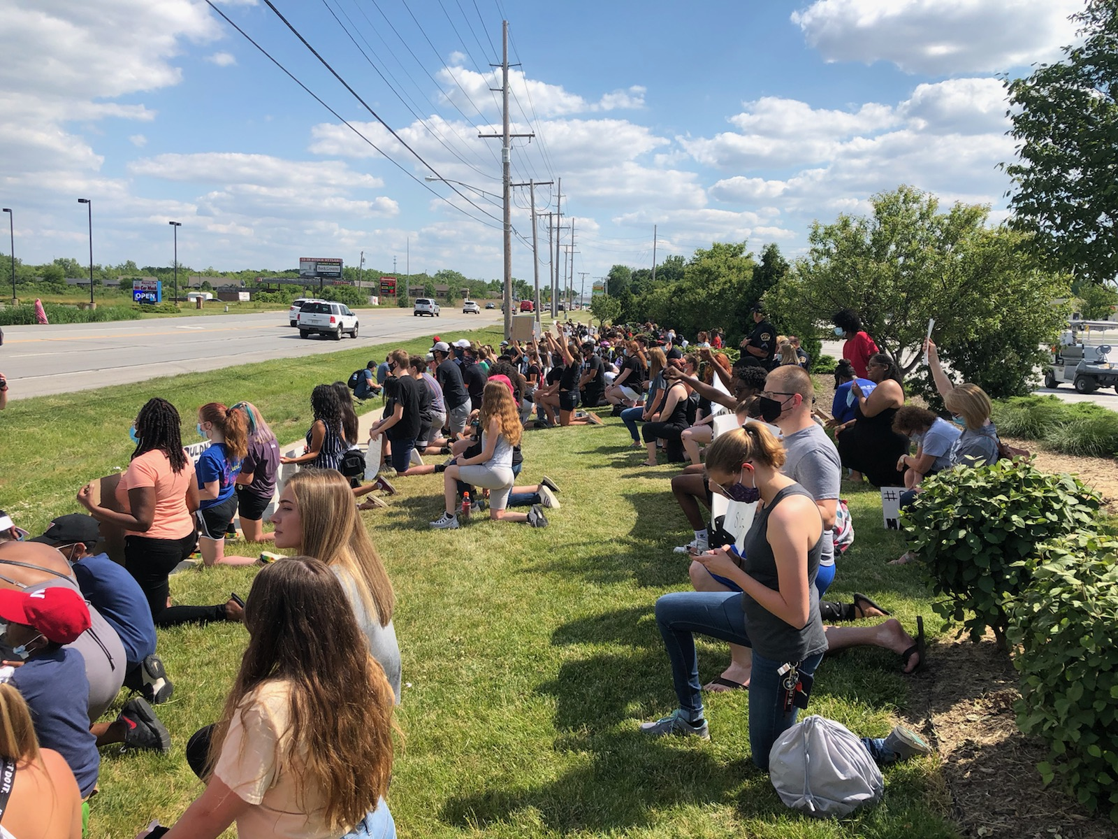 Lake Central students and staff, along with community members, rallied to draw attention to social injustice and racial bias on June 16,2020.