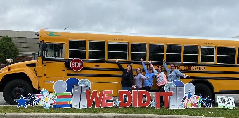 Clark drivers enjoying their last day of the 20-21 school year.
