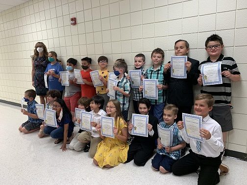 Mrs. Crary's 3rd gr class scored 3rd in the nation (gold division) for the Word Masters Challenge.