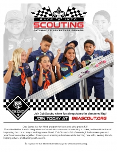 Race Into Scouting Flier